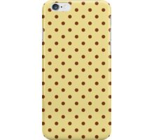 Cream and Brown Spotty Polka Dot Pattern iPhone Case/Skin