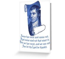 The Selkirk Grace Burns Night Supper Poem Greeting Card