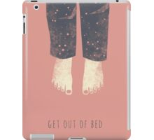 Get out of bed iPad Case/Skin