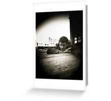 Pinhole Self Portrait Greeting Card