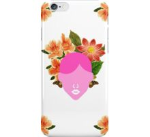 Flower Wedding Crown Portrait (0001) iPhone Case/Skin