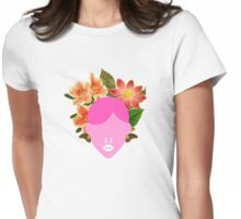 Flower Wedding Crown Portrait (0001) Womens Fitted T-Shirt