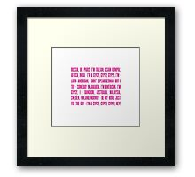 Gypsy Lyrics Framed Print