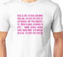 Gypsy Lyrics Unisex T-Shirt