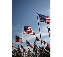 The Flags of USA Photographic Print
