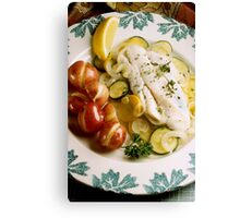 Baked Fish Dinner Canvas Print
