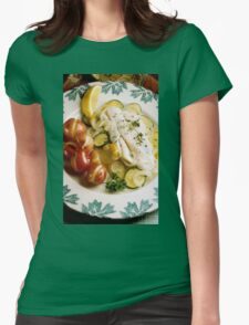 Baked Fish Dinner Womens Fitted T-Shirt