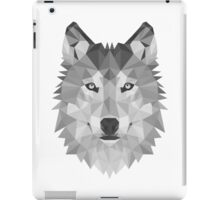 Geometric Wolf B&W iPad Case/Skin