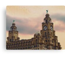 Liver Buildings - Liverpool Canvas Print