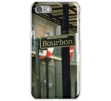 Bourbon Street Sign in New Orleans iPhone Case/Skin