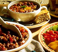 Chili with Cornbread by BravuraMedia