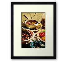 Chili with Cornbread Framed Print