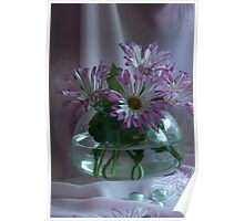 Evening Flowers Poster