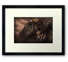 ☝ ☞ GOLDEN EAGLE IN FLIGHT  PICTURE-PILLOW-AND OR TOTE BAG☝ ☞ Framed Print