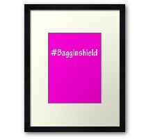 #Bagginshield White Framed Print