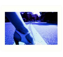 Infrared picture of foot and shoe Art Print