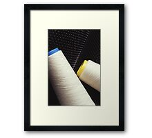 Cotton Yarn Coil Framed Print