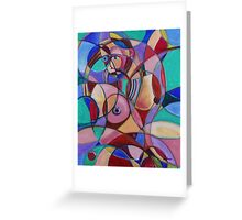 Female Nude Circular Composition #1 (Oils)- Greeting Card