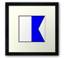 International maritime signal flag Framed Print