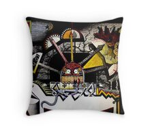 The Face of Time Throw Pillow