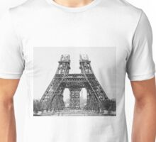 Eiffel Tower Construction Unisex T-Shirt