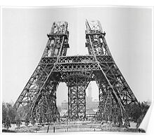 Eiffel Tower Construction Poster