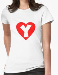 I love Y- Heart Y - Heart with letter Y T-Shirt