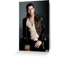Nick Jonas Greeting Card