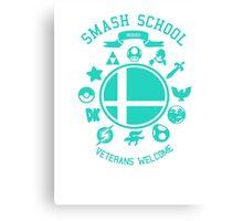 Smash School Veteran Class (Cyan) Canvas Print