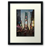 When night turns day Framed Print
