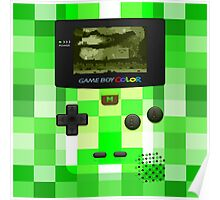 Game Boy Color Minecraft  Poster