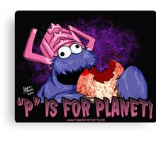 P is For Planet Canvas Print