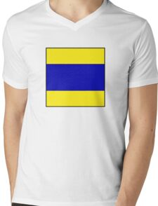maritime signal flags Mens V-Neck T-Shirt