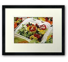 Fresh Garden Salad Framed Print