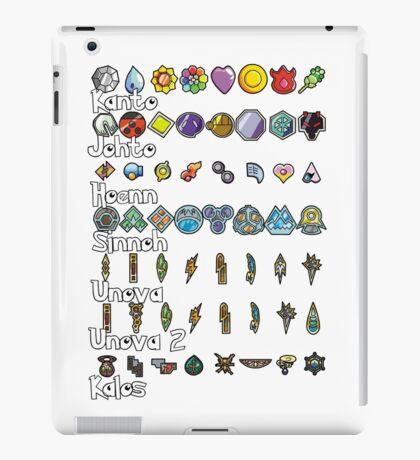 Pokemon Badges iPad Case/Skin