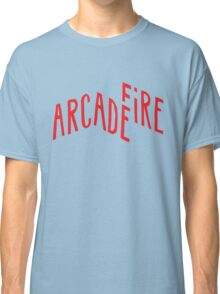 """""""Red Logo"""" of Arcade Fire Classic T-Shirt"""