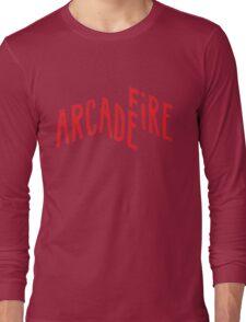 """""""Red Logo"""" of Arcade Fire Long Sleeve T-Shirt"""
