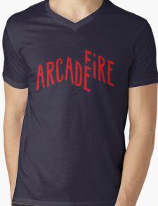 """""""Red Logo"""" of Arcade Fire Mens V-Neck T-Shirt"""