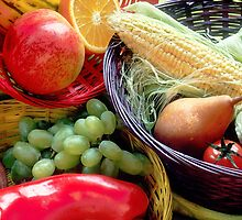 Healthy Fruit and Vegetables by BravuraMedia