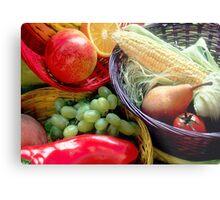 Healthy Fruit and Vegetables Metal Print