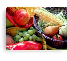 Healthy Fruit and Vegetables Canvas Print