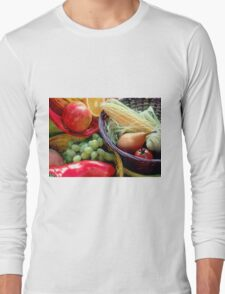 Healthy Fruit and Vegetables Long Sleeve T-Shirt