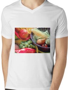 Healthy Fruit and Vegetables Mens V-Neck T-Shirt