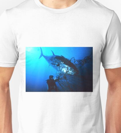 Giant Bluefin Tuna Caught in a Net Unisex T-Shirt