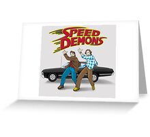 Speed Demons Greeting Card