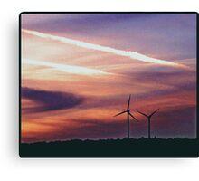 Urban Windmills Canvas Print