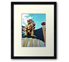 MGM Lion Framed Print