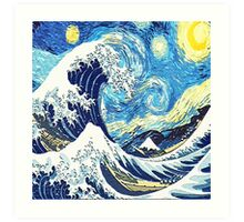 Starry Night Blue Art Painting Art Print