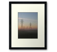 Electric Dawn Framed Print