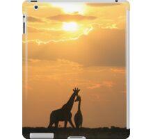 Giraffe Silhouette - Golden Beauty iPad Case/Skin